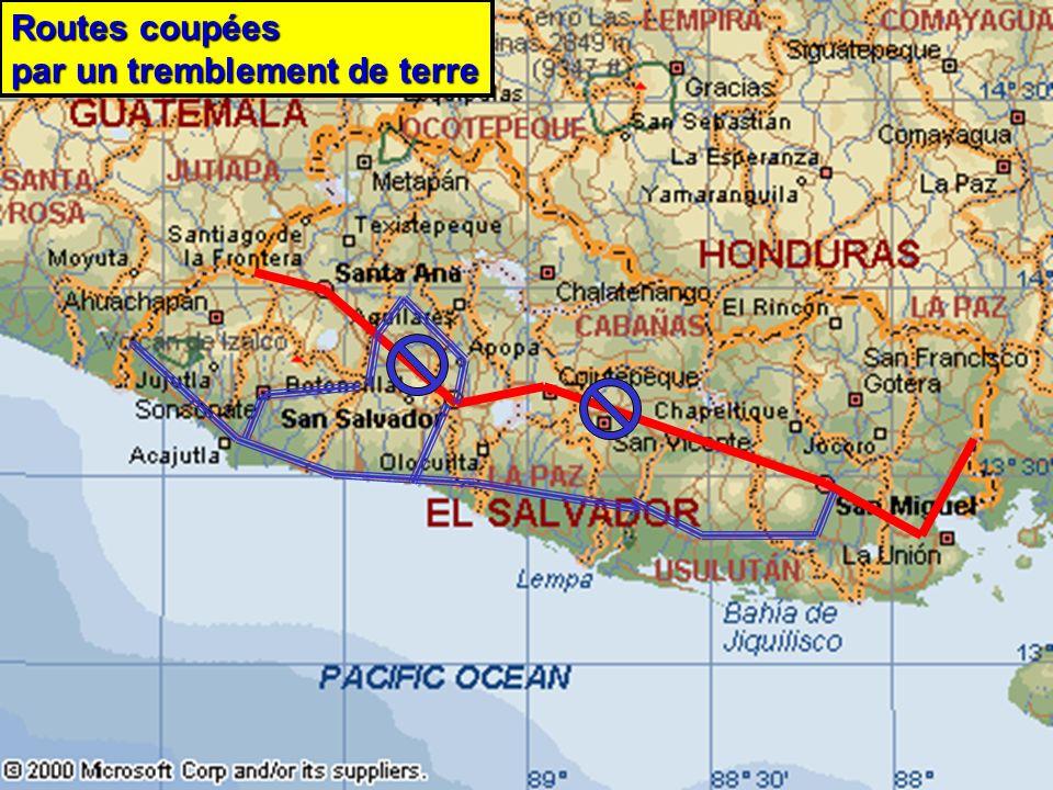 24 août 2007 RJovel7 Routes coupées par un tremblement de terre