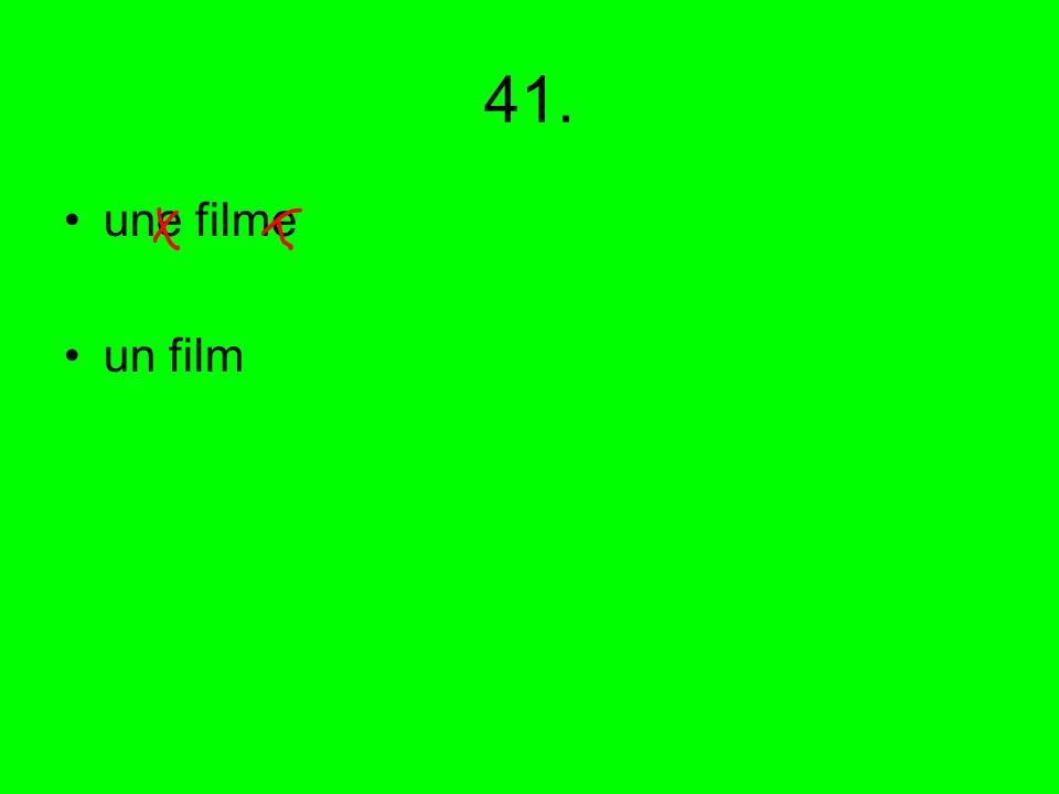 41. une filme un film