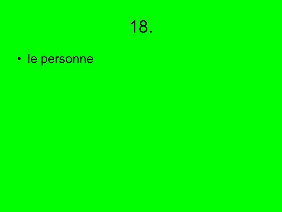 18. le personne