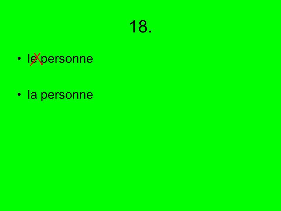 18. le personne la personne