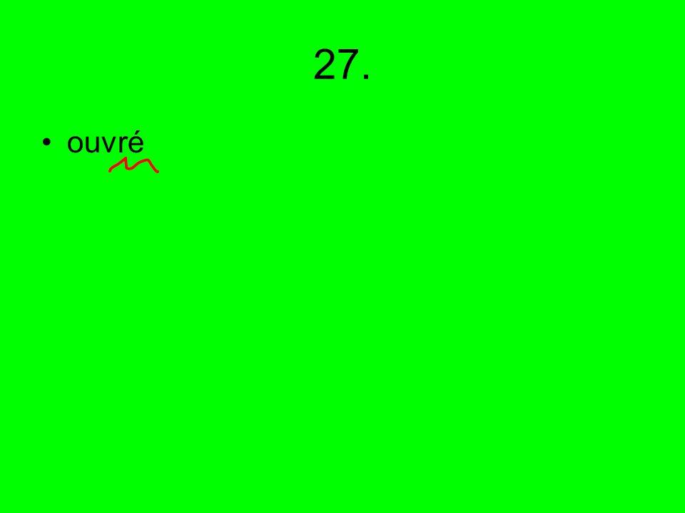 27. ouvré