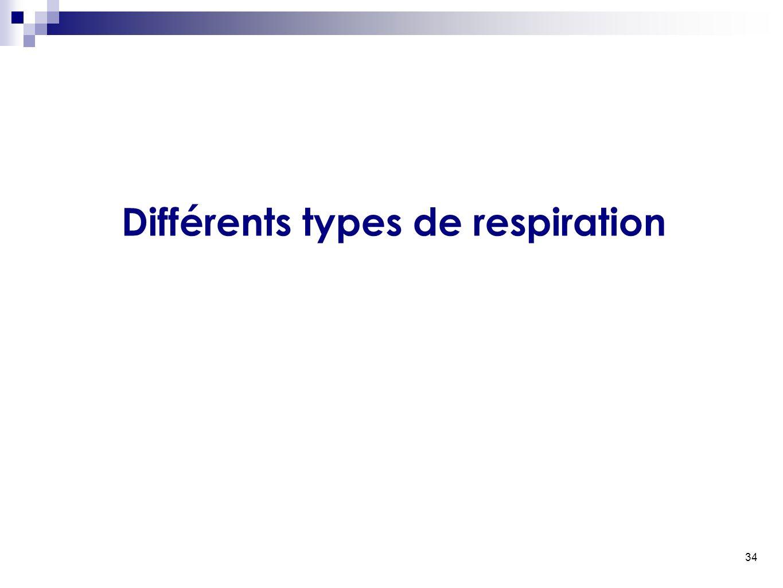 34 Différents types de respiration