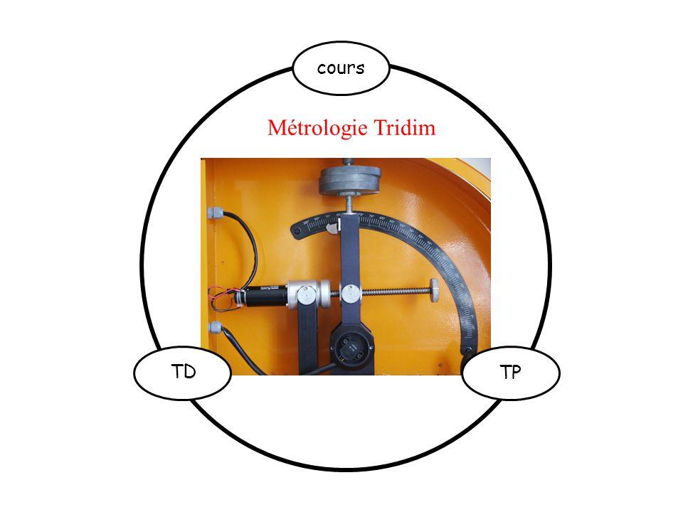 Métrologie Tridim TP TD cours