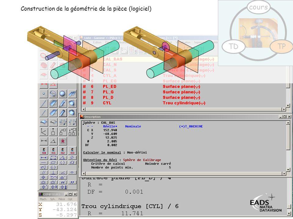 TD TP cours Construction de la géométrie de la pièce (logiciel)