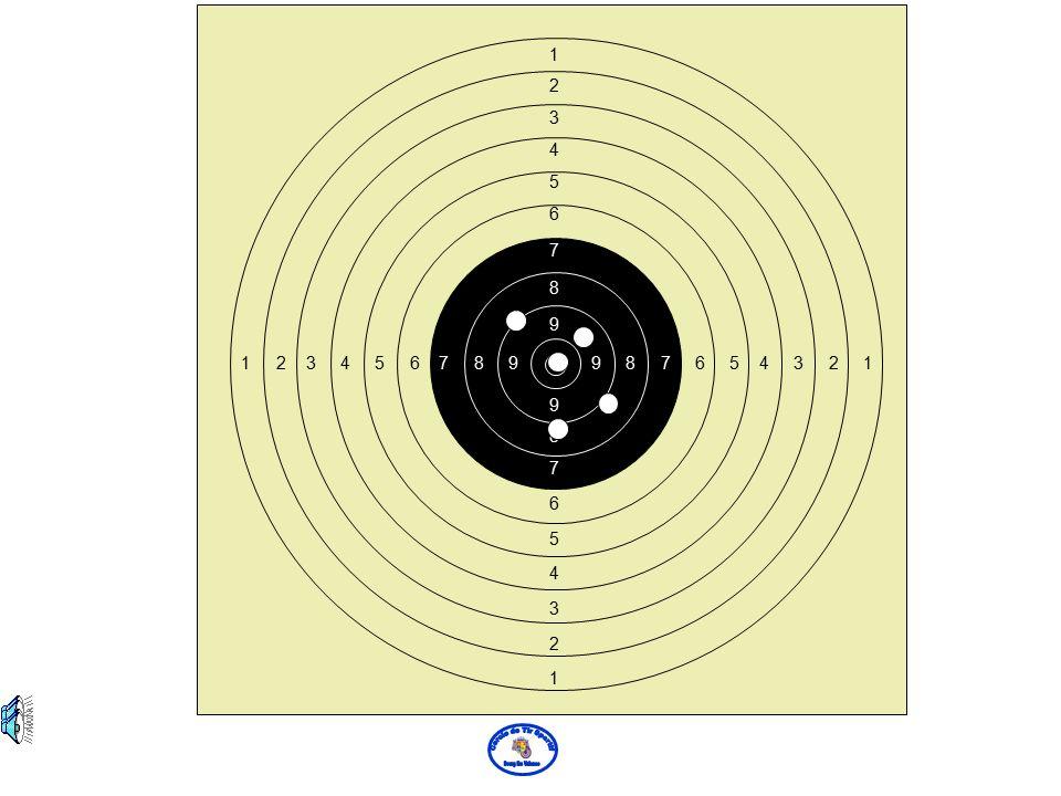 L'arme est tenue trop haut dans la main le canon monte Le guidon affleure trop le bas du visuel