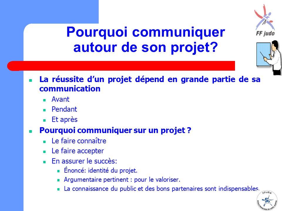Pourquoi communiquer autour de son projet? La réussite d'un projet dépend en grande partie de sa communication Avant Pendant Et après Pourquoi communi