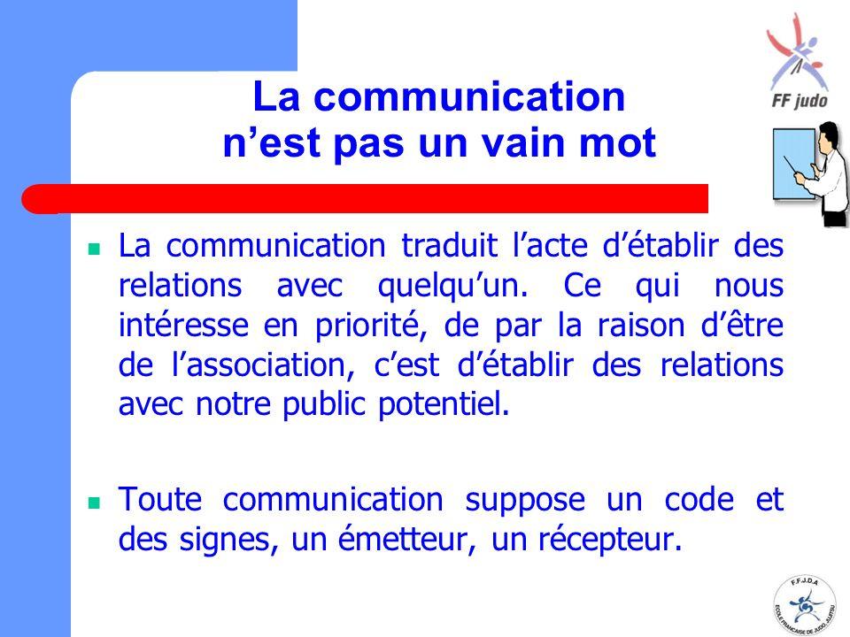 La communication n'est pas un vain mot La communication traduit l'acte d'établir des relations avec quelqu'un. Ce qui nous intéresse en priorité, de p