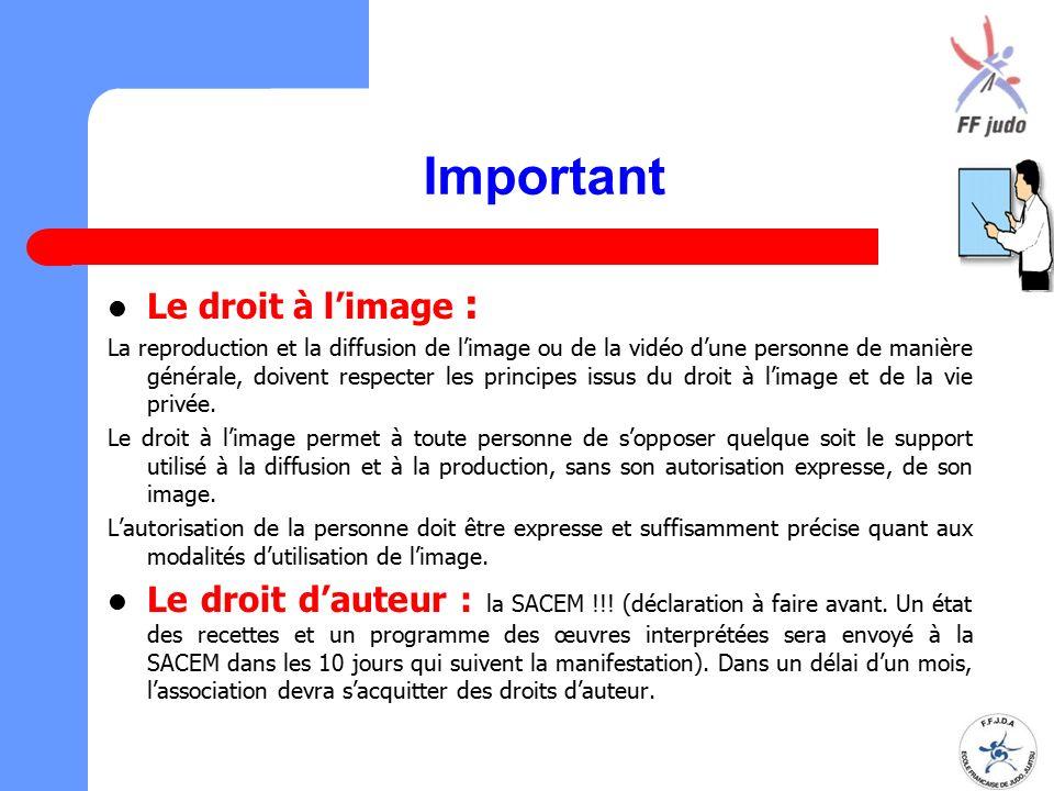 Important Le droit à l'image : La reproduction et la diffusion de l'image ou de la vidéo d'une personne de manière générale, doivent respecter les pri