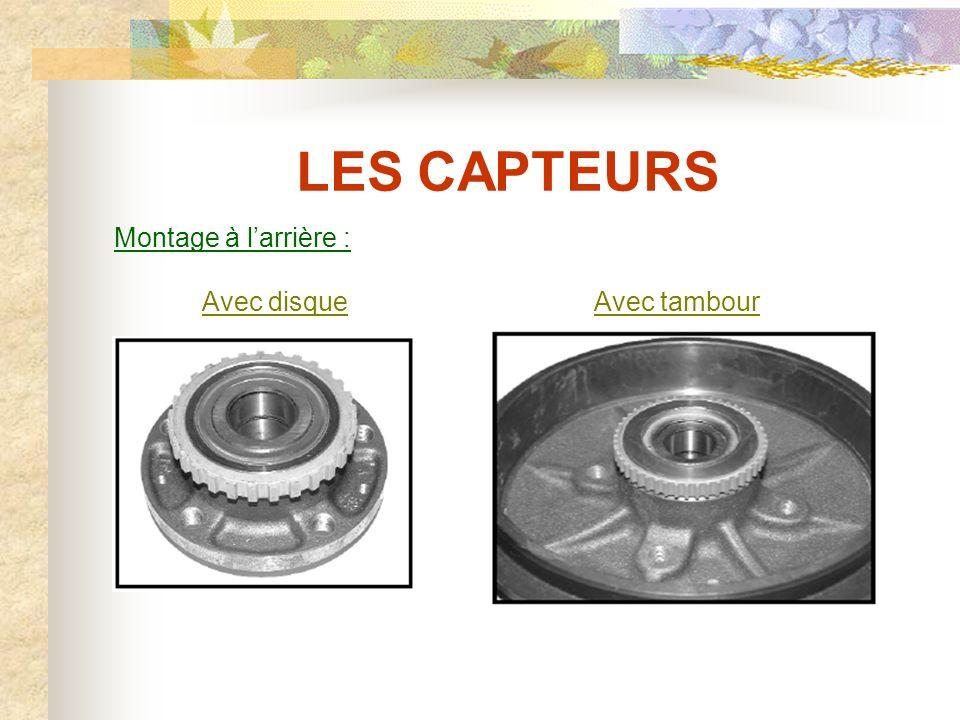 LES CAPTEURS Les cibles métalliques : Le capteur est monté en regard d'une cible métallique (matériau ferro-magnétique) constituée de dents et de creux.