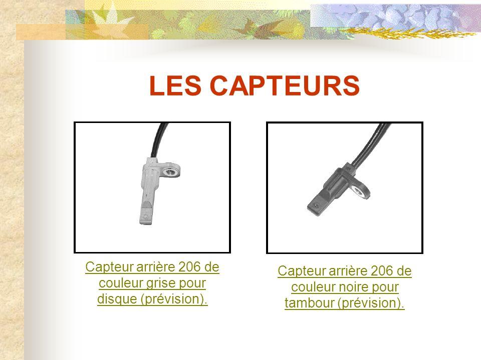 LES CAPTEURS Exemples de capteurs actifs à Effet Hall : Capteur avant 307Capteur arrière 307