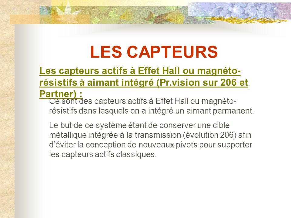 LES CAPTEURS Exemples de capteurs actifs magnéto-résistifs : Capteur avant 807Capteur arrière 807