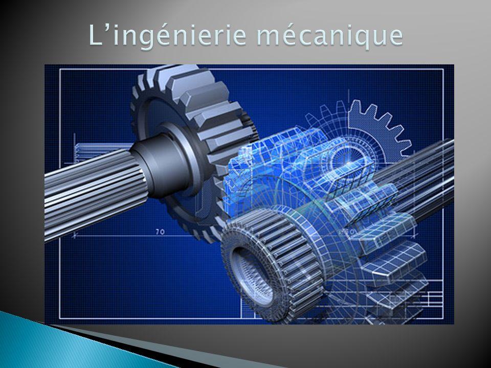 C'est la branche du génie qui étudie la conception, la production, l analyse, le fonctionnement et le perfectionnement des objets techniques dans lesquels le mouvement de certaines pièces est impliqué.