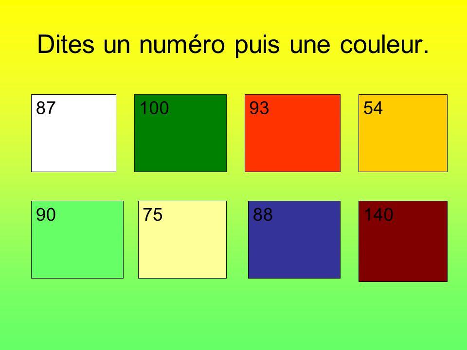 Dites un numéro puis une couleur. 87871009354 907588140
