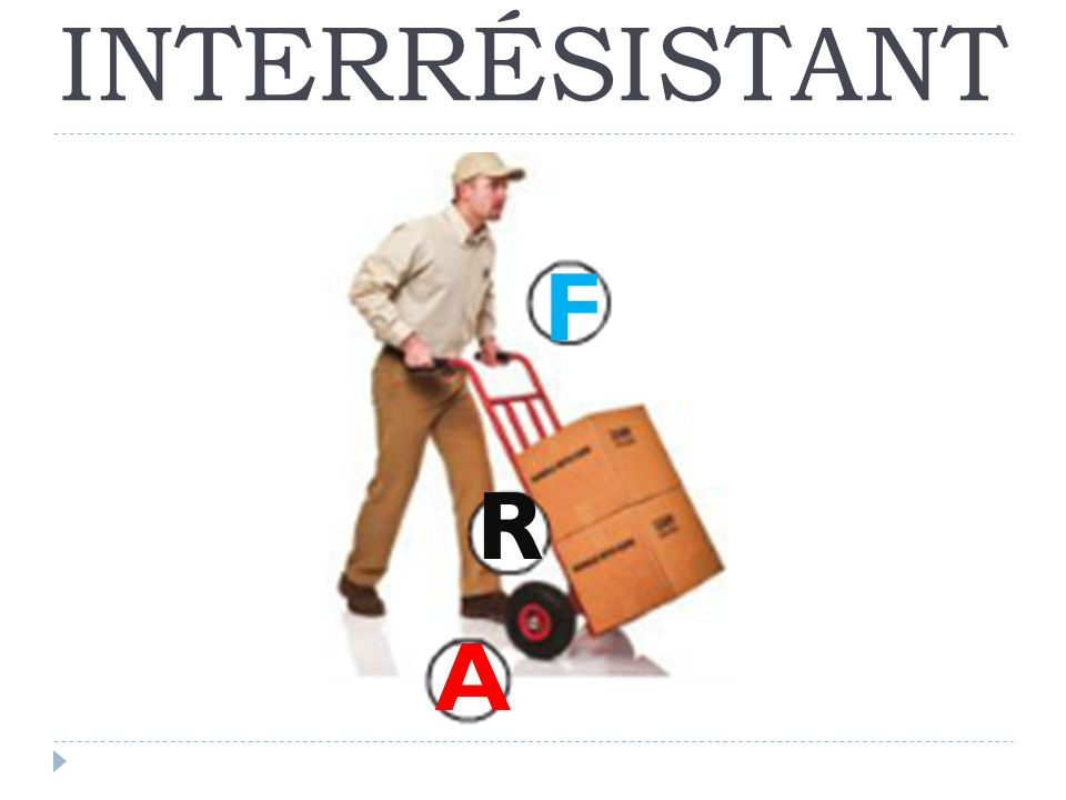 INTERRÉSISTANT A R F