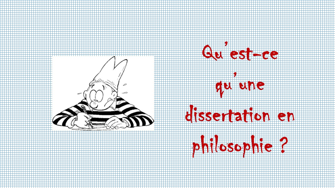 Comment rediger une dissertation de philosophie Etusivu