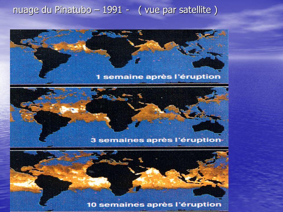 nuage du Pinatubo – 1991 - ( vue par satellite )