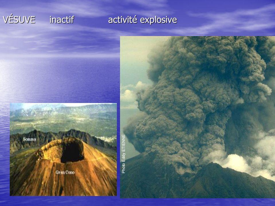 VÉSUVE inactif activité explosive