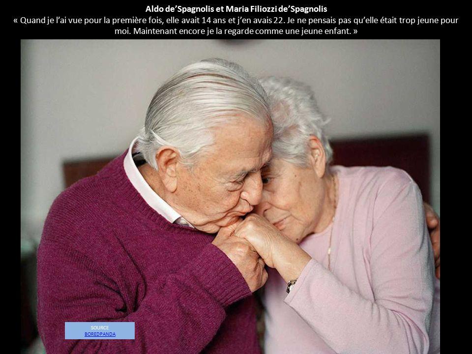 Aldo de'Spagnolis et Maria Filiozzi de'Spagnolis « Quand je l'ai vue pour la première fois, elle avait 14 ans et j'en avais 22. Je ne pensais pas qu'e