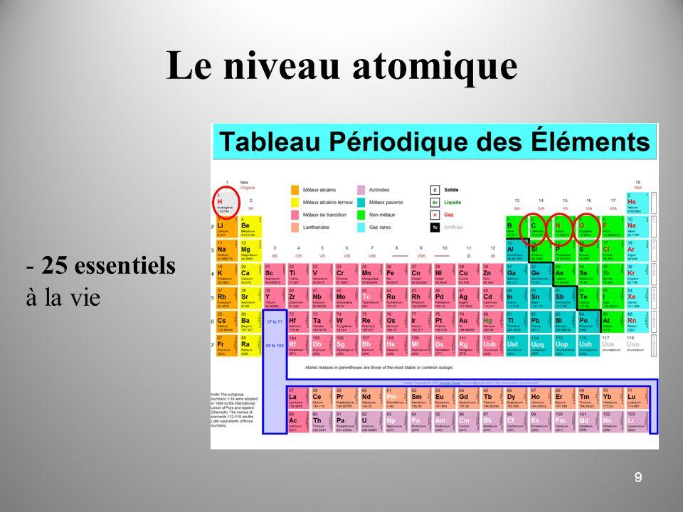 Le niveau atomique - 25 essentiels à la vie 9