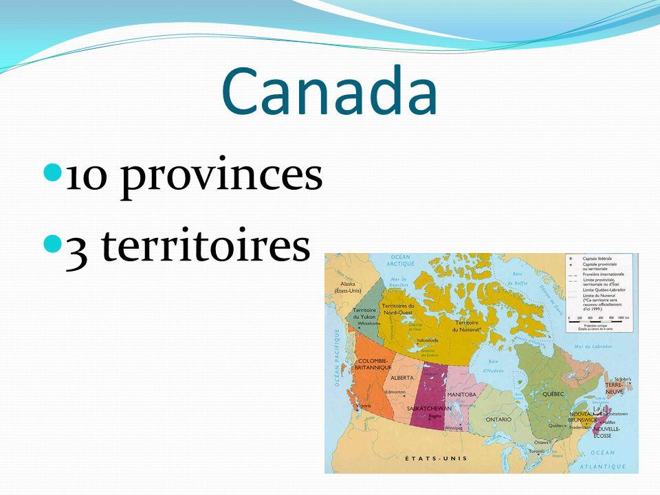 Canada 10 provinces 3 territoires