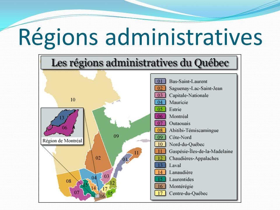 Régions administratives