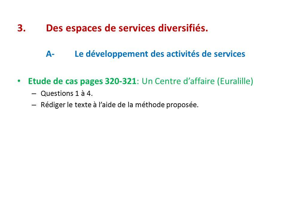 3.Des espaces de services diversifiés.