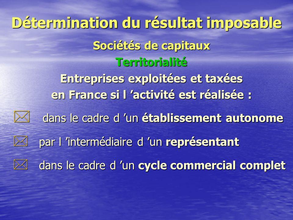 Détermination du résultat imposable Sociétés de capitaux Champ d 'application * Personnes morales : S.A., S.A.R.L., * Personnes exclues : G.I.E., S.C.M., S.C.P.