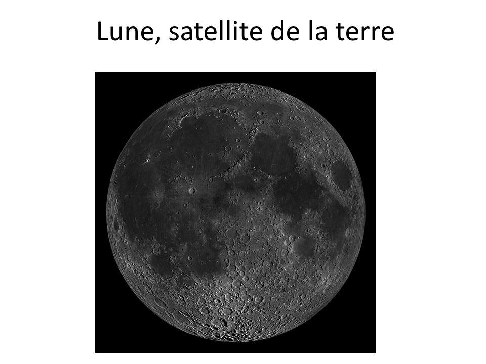 Lune, satellite de la terre