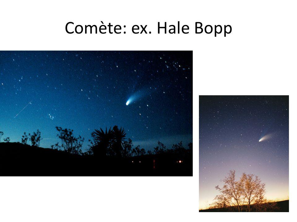Comète: ex. Hale Bopp