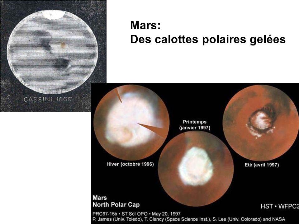 Mars: Des calottes polaires gelées