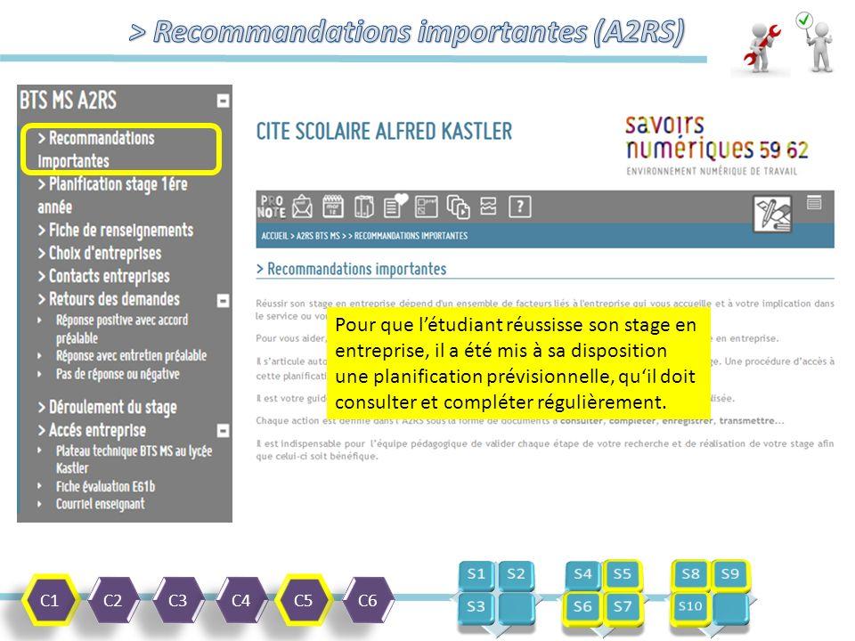 C1 C2 C3 C4 C5 C6 Procédure de choix et d'enregistrement liste d'entreprises. (PDF)