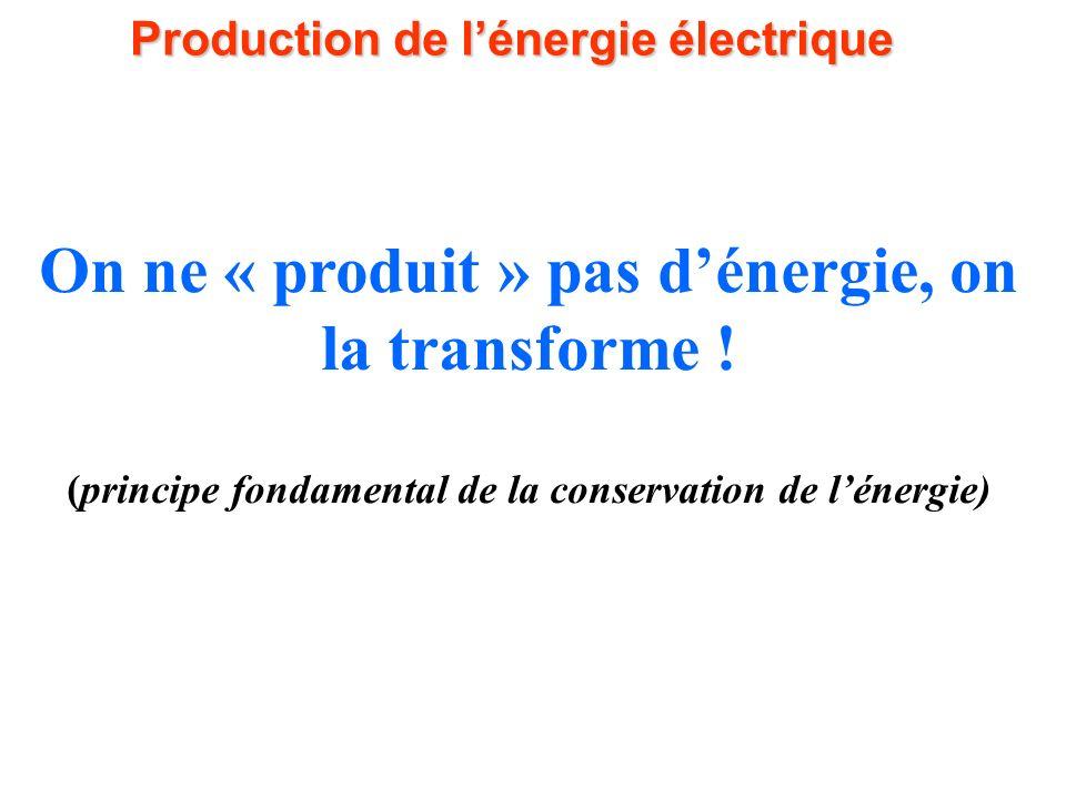 La centrale hydraulique La production électrique