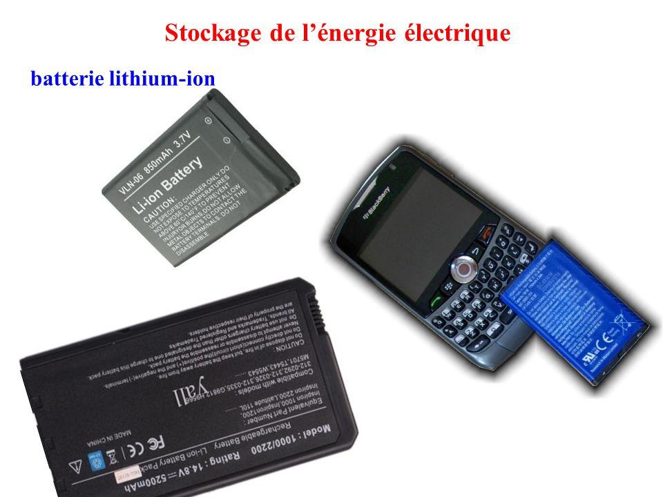 batterie lithium-ion Stockage de l'énergie électrique