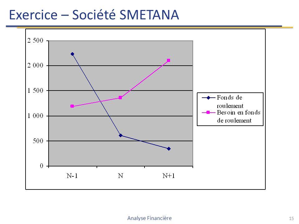 15 Exercice – Société SMETANA Analyse Financière