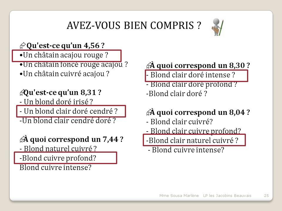 Mme Sousa Marlène LP les Jacobins Beauvais25  À quoi correspond un 8,30 .