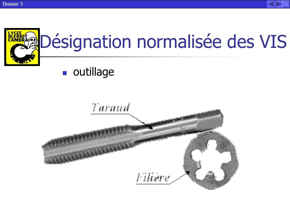 Dossier 5 Désignation normalisée des VIS outillage