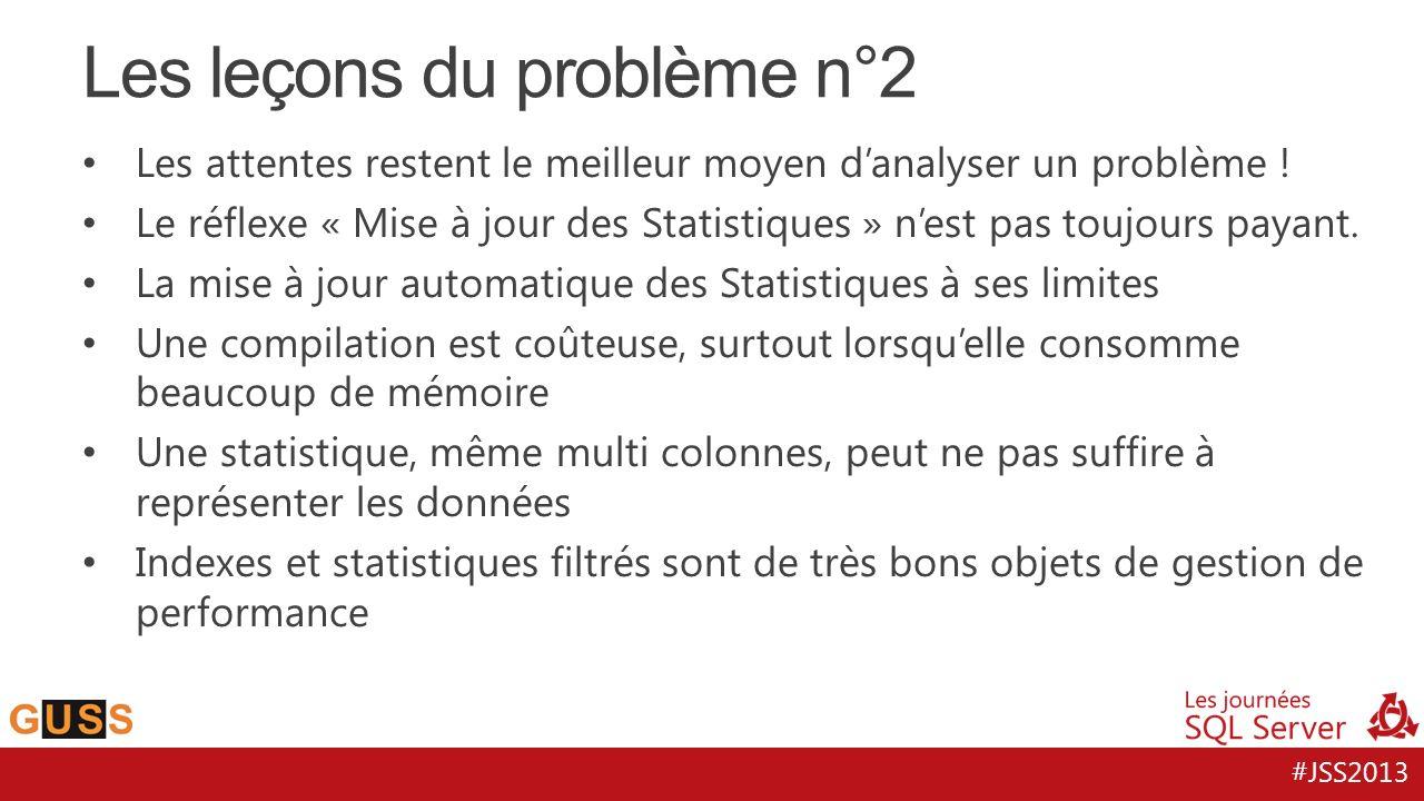 #JSS2013 Les leçons du problème n°2 Les attentes restent le meilleur moyen d'analyser un problème .