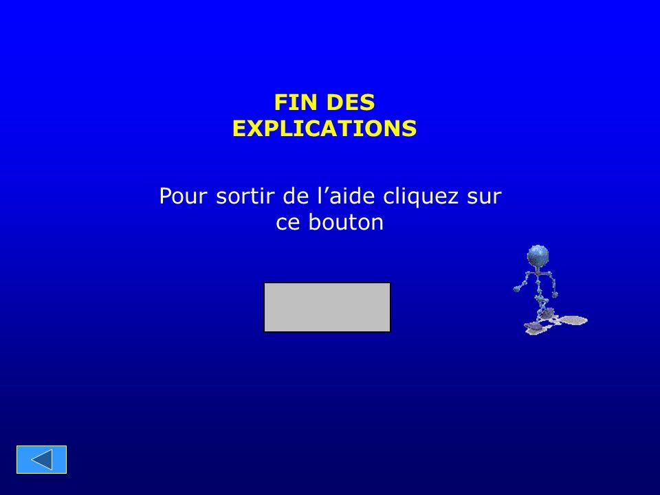 FIN DES EXPLICATIONS Pour sortir de l'aide cliquez sur ce bouton