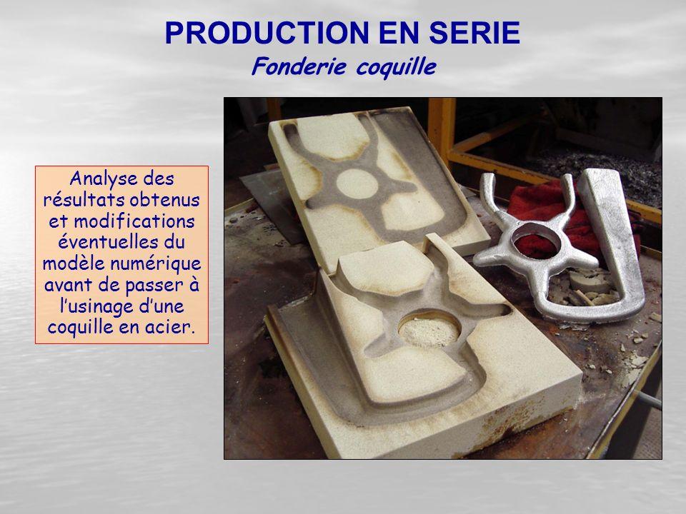 Analyse des résultats obtenus et modifications éventuelles du modèle numérique avant de passer à l'usinage d'une coquille en acier. Fonderie coquille