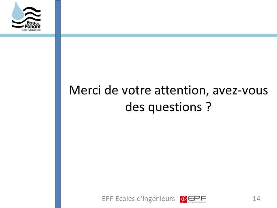 14EPF-Ecoles d ingénieurs Merci de votre attention, avez-vous des questions ?