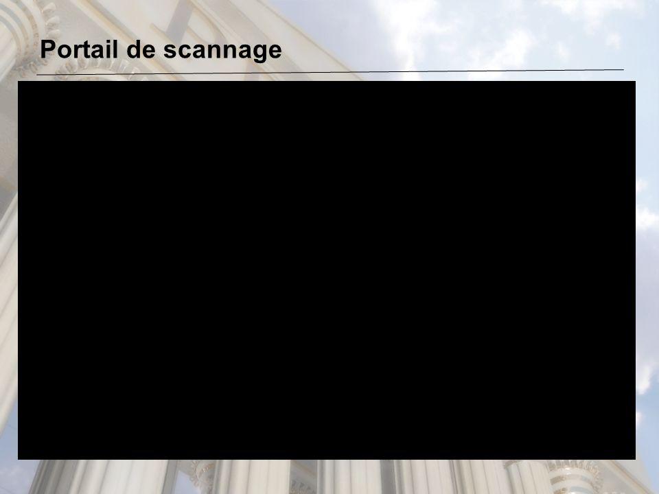 Portail de scannage