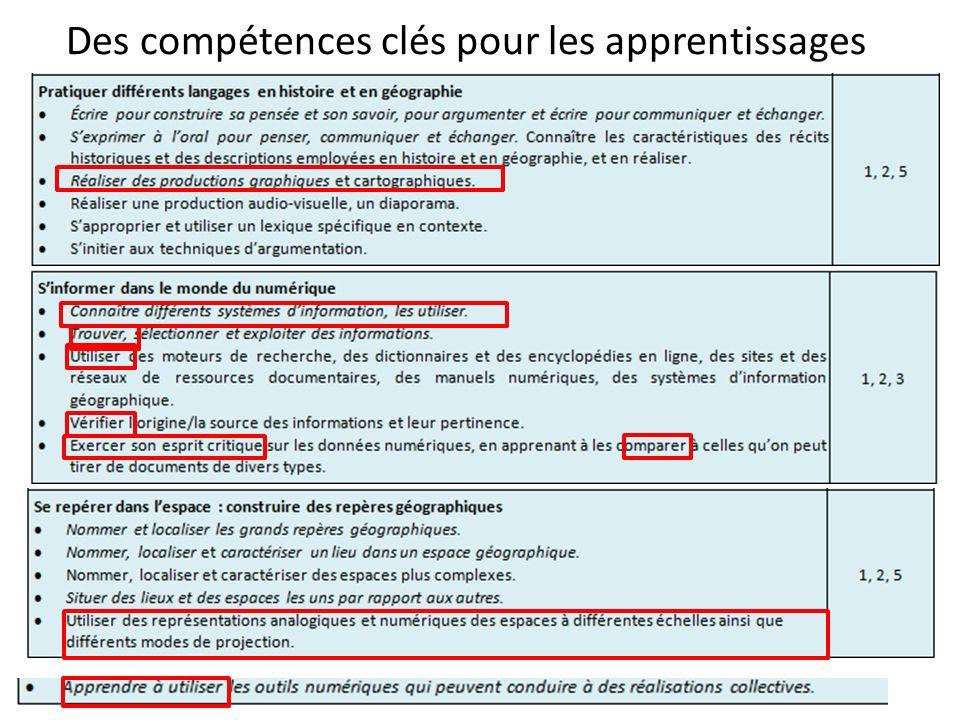 Des compétences clés pour les apprentissages