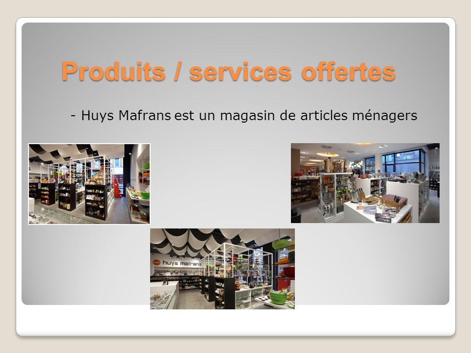Produits / services offertes - Huys Mafrans est un magasin de articles ménagers