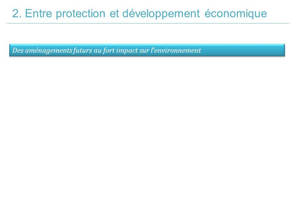 2. Entre protection et développement économique Des aménagements futurs au fort impact sur l'environnement