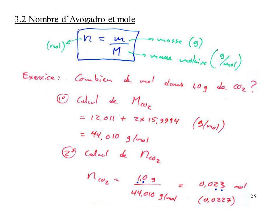 25 3.2 Nombre d'Avogadro et mole