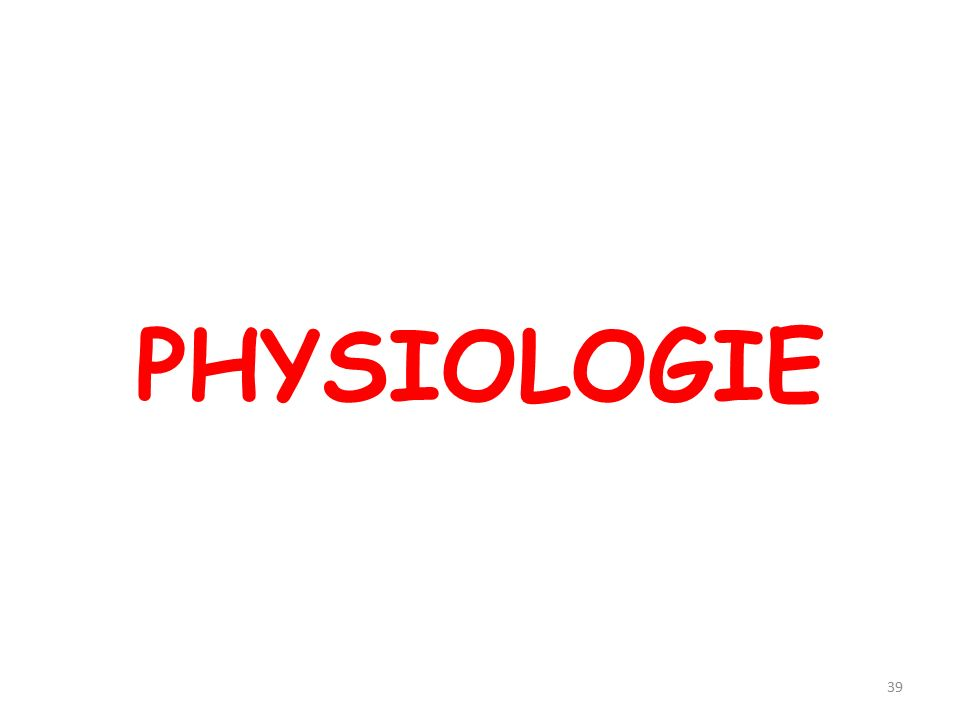 PHYSIOLOGIE 39
