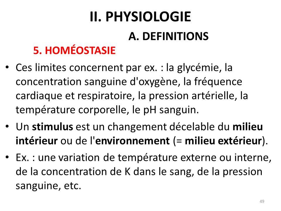 5.HOMÉOSTASIE Ces limites concernent par ex.