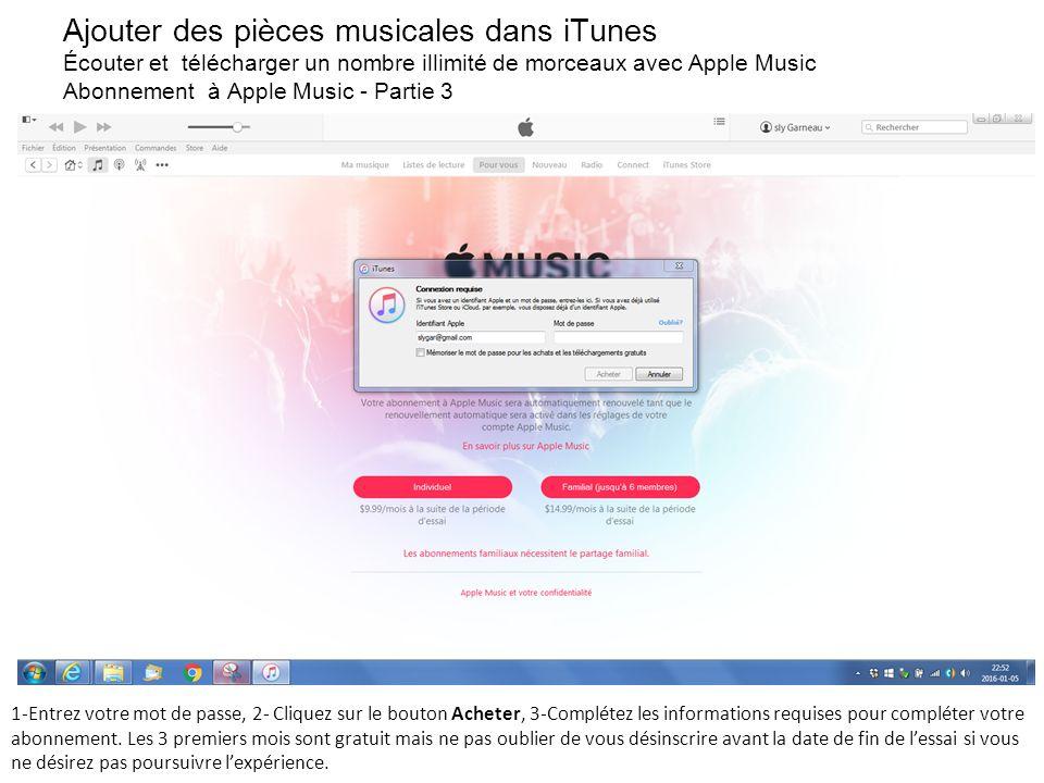 utiliser abonnement familial apple music