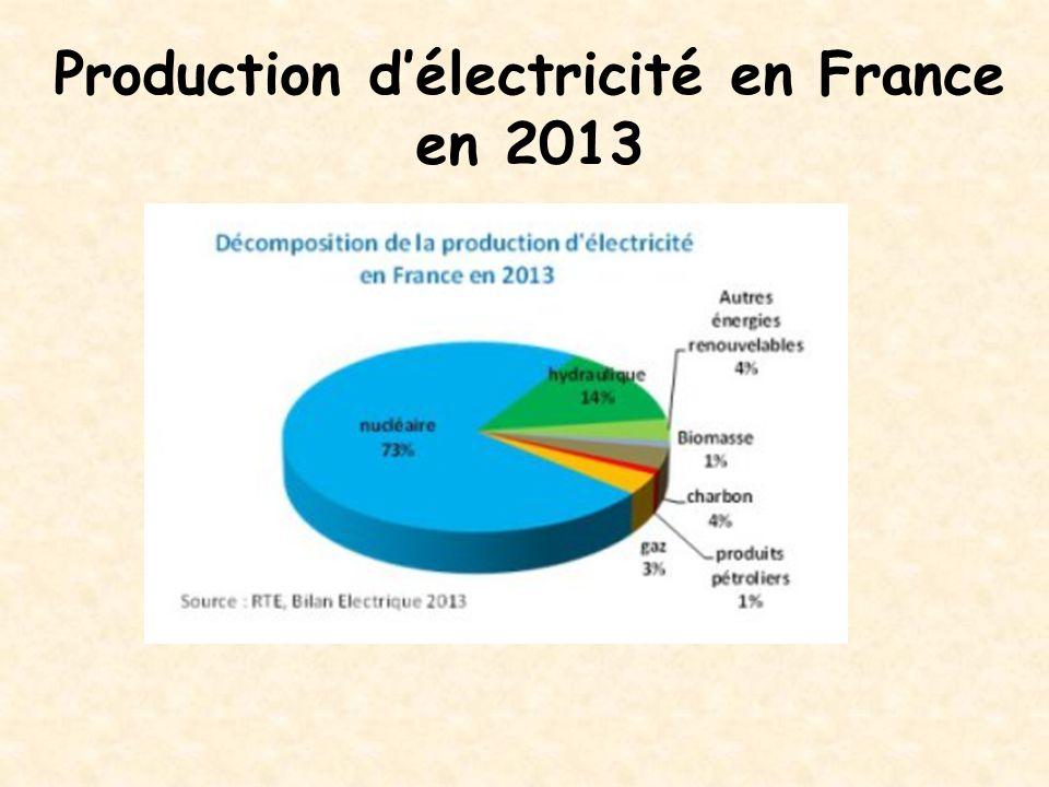 Production d'électricité en France en 2013