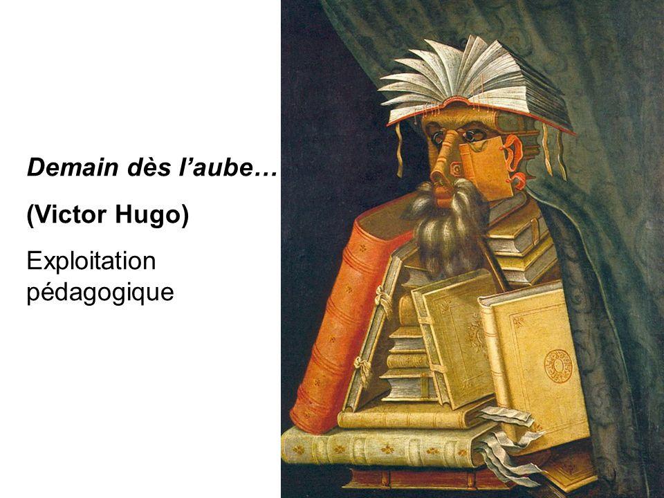 Pierre-Yves ROUX Mars 2013 Demain dès l'aube… (Victor Hugo) Exploitation pédagogique Pierre-Yves ROUX